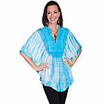 Honey Creek Women's Pullover Tie Die Poncho Blouse
