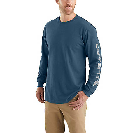 Carhartt Men's Long Sleeve Graphic Logo T-Shirt, K231