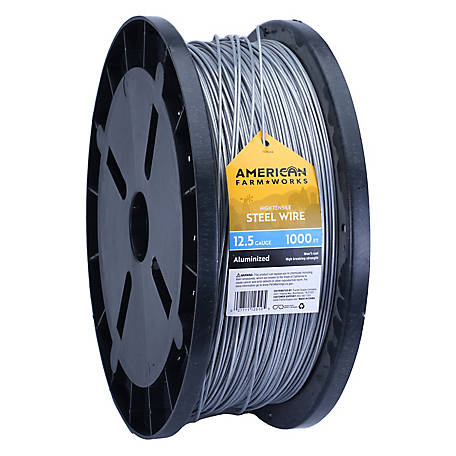American FarmWorks 12-1/2-Gauge Aluminized Steel Wire, 1,000 ft.