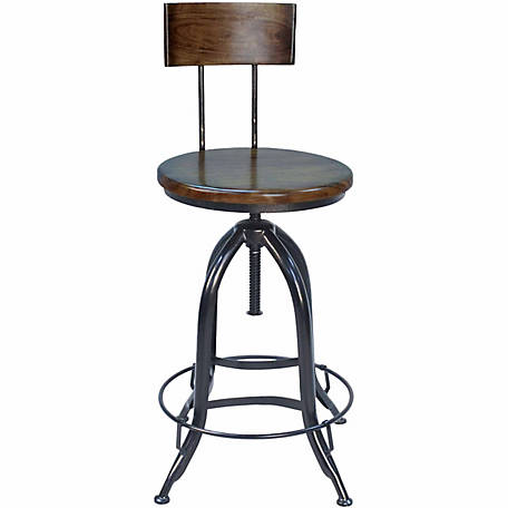 Carolina Chair & Table Blainey Adjustable Stool with Back