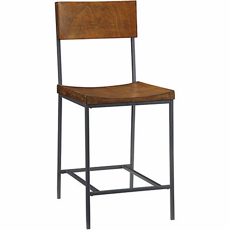 Carolina Chair & Table Park Valley Counter Stool, Chestnut Finish, 24 in.