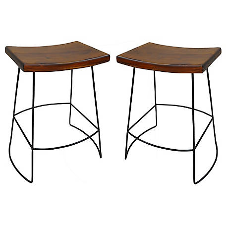 Carolina Chair & Table Portland Saddle Seat Counter Stool