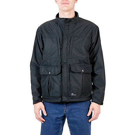 aac1eb725c9 Berne Black Softshell Jacket with Concealed Weapon Pockets at ...
