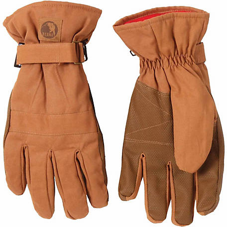 Berne Men's Duck Waterproof Insulated Work Gloves