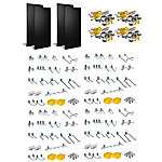 Duraboard Polyethylene Pegboard with 96-Piece DuraHook Assortment, Hanging Bin System & Wall Mounting Hardware