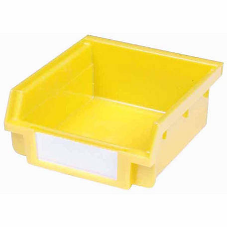 Plastic Hanging Bins for Molded Front Holder, 3-5/8 in. L x 3-7/8 in. W x 1-3/4 in. H, Yellow, Pack of 30
