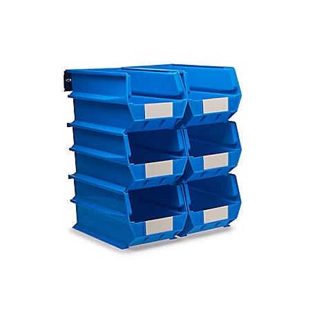 LocBin 8-Piece Wall Mount Bin And Rail System, 14-3/4 in. Blue Bin