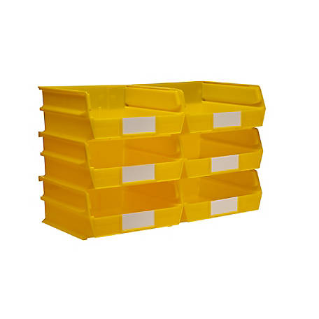 LocBin DuraHook BinKit, 10-7/8 in. Yellow Bin, Pack of 6
