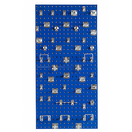 LocBoard Square Hole Pegboard with 46-Piece LocHook Assortment, Blue