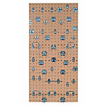 LocBoard Square Hole Pegboard with 46-Piece LocHook Assortment, Tan