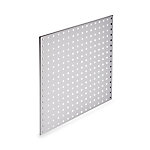 LocBoard Square Hole Pegboard, 24 in. W x 24 in. H x 9/16 in. D, White, Pack of 2