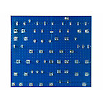 LocBoard Square Hole Pegboard with 63-Piece LocHook Assortment, Blue