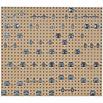 LocBoard Square Hole Pegboards with 63-Piece LocHook Assortment, Tan