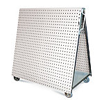 LocBoard Tool Cart with Tray and White LocBoard, 48 in. L x 46 in. H x 26-5/8 in. W