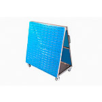 LocBoard Mobile Louvered Panel Cart with Louvered Panels for Hanging Bins, 48 in. L x 51-1/2 in. H x 29-3/4 in. W