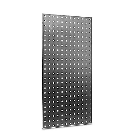 LocBoard 304 Stainless Steel Square Hole Pegboard with Wall Mounting Hardware, 18 in. W x 36 in. H x 1/2 in. D