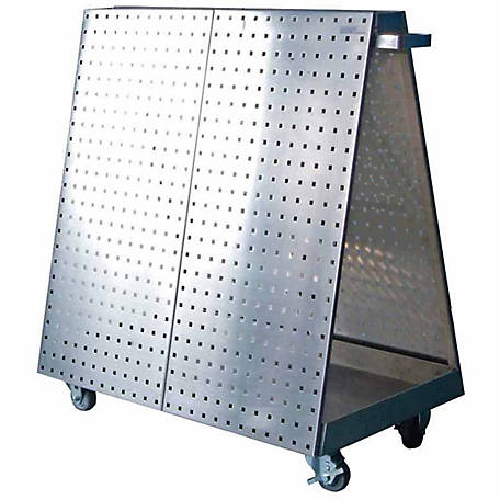 LocBoard Stainless Steel Tool Cart with Tray, 36-3/4 in. L x 39-1/4 in. H x 21-1/4 in.