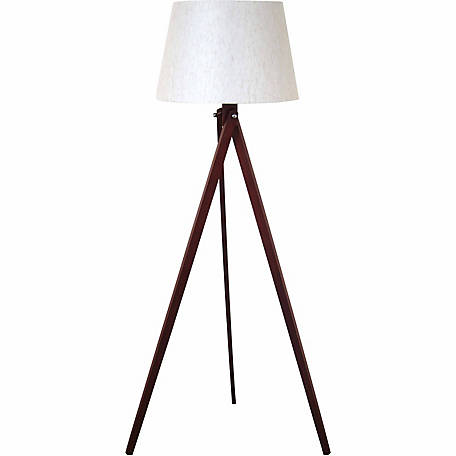 BarrenFork Decor Wood Tripod Floor Lamp