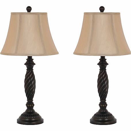 BarrenFork Decor 27 in. Dark Bronze Table Lamp Set