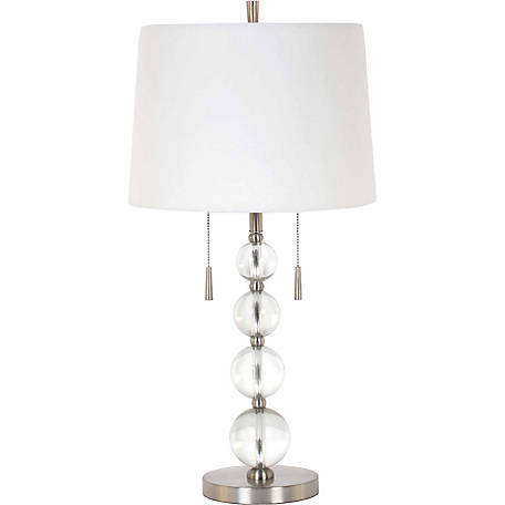 BarrenFork Decor 28 in. Twin Pull Chain Table Lamp