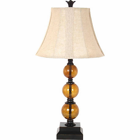 Barrenfork Decor 29 In Amber Glass Table Lamp At Tractor Supply Co