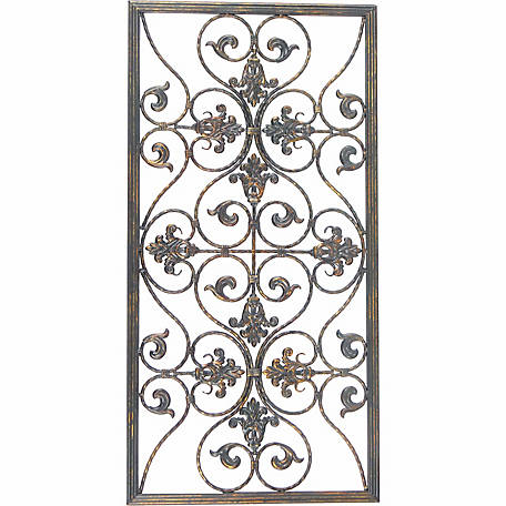 BarrenFork Decor Dark Bronze Finish Metal Wall Grill
