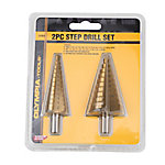 Olympia Tools 2-Piece Step Drill Set