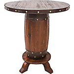 Red Shed Wooden Barrel Table