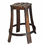 Red Shed Wooden Barrel Stool, Set of 2