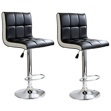 AmeriHome 2-Piece Two-Tone Padded Bar Stool Set