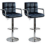 AmeriHome 2-Piece Padded Bar Stool Set