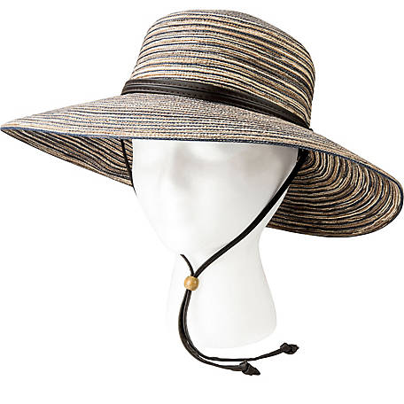 c335df79208 Sloggers Wide Brim Braided Sun Hat with Wind Lanyard - 1220449 at ...