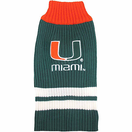 Pets First Co Miami Hurricanes Pet Sweater