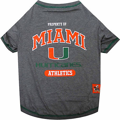 Pets First Co Miami Hurricanes Pet Tee Shirt