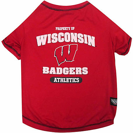 Pets First Co Wisconsin Badgers Pet Tee Shirt