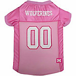 Pets First Co Michigan Wolverines Pet Pink Jersey