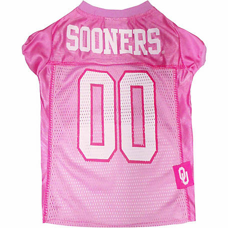 Pets First Co Oklahoma Sooners Pet Pink Jersey