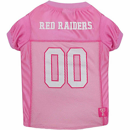 b72b63145 Pets First Co Texas Tech Red Raiders Pet Pink Jersey