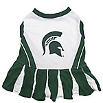 Pets First Co. Michigan State Spartans Pet Cheerleader Dress