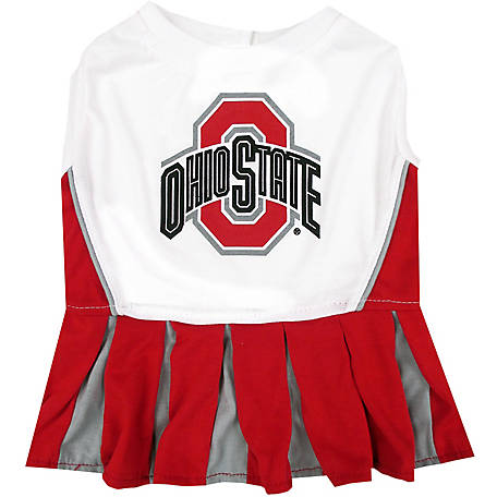 Pets First Co. Ohio State Buckeyes Pet Cheerleader Dress