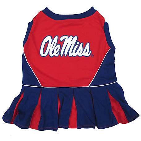 Pets First Co. Ole Miss Rebels Pet Cheerleader Dress
