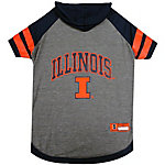 Pets First Co. Illinois Fighting Illini Pet Hoody Tee Shirt