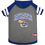 Pets First Co. Kansas Jayhawks Pet Hoody Tee Shirt