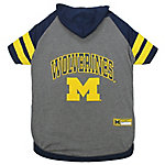 Pets First Co. Michigan Wolverines Pet Hoody Tee Shirt
