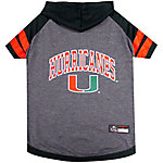 Pets First Co. Miami Hurricanes Pet Hoody Tee Shirt