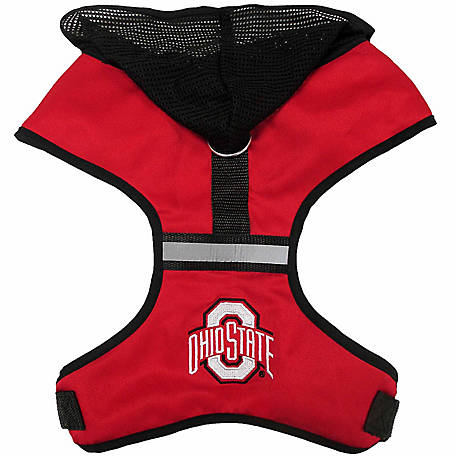 Pets First Co. Ohio State Buckeyes Hooded Pet Harness