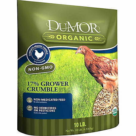 DuMOR Organic 17% Grower Crumble, 10 lb. Bag