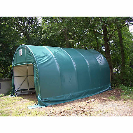 ShelterLogic SP Round 12 ft. x 20 ft. x 8 ft. Heavy-Duty Green 14.5 oz. PE Shelter