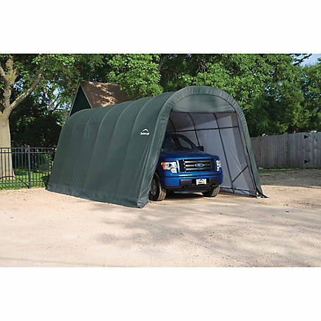 ShelterLogic SP Round 12 ft. x 30 ft. x 10 ft. Heavy-Duty Green 14.5 oz. PE Shelter