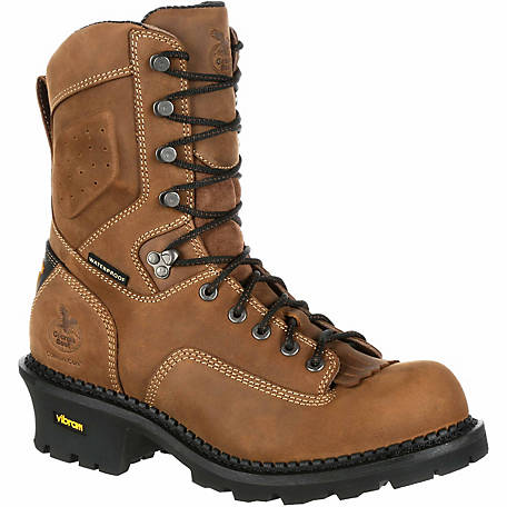 Georgia Boot Men's Comfort Core Logger Composite Toe Waterproof Vibram Outsole Boot